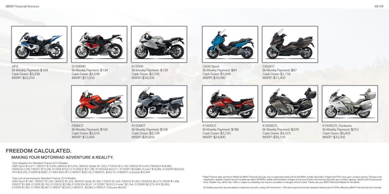 BMW Motorrad brochure  2014
