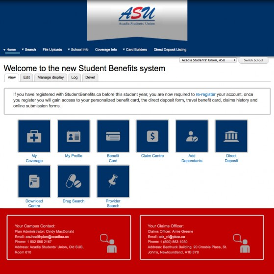 Student Benefits Administrators