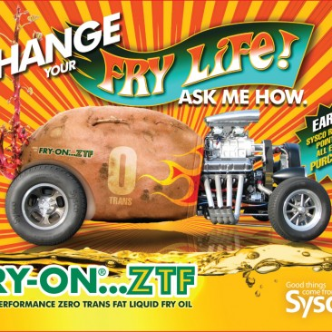 Sysco Fry On Laptop Skin